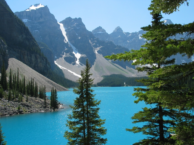 Canada in autumn. moraine lake in banff national park, canada