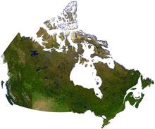 canada terrain map