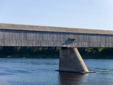 Covered bridge in Hartland, New Brunswick