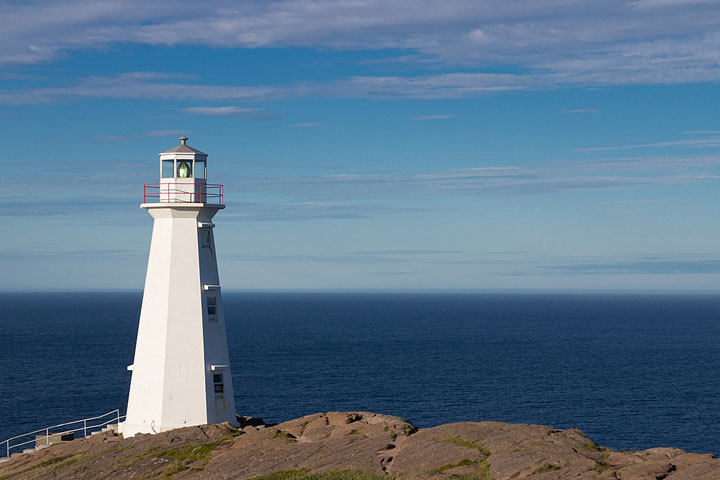 lighthouse on a rocky cape in Newfoundland