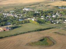 Saskatchewan village and farmland