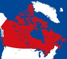 canada locator map