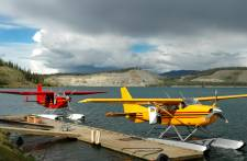 Floatplanes on Schwatka Lake
