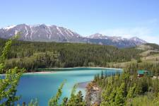 Blue lake, Yukon, Canada